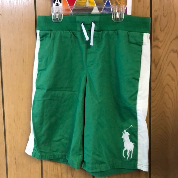 1ec8248cf Polo by Ralph Lauren Bottoms   Green And White Rl Polo Boys Shorts ...